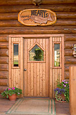 Log Cabin Home Entrance